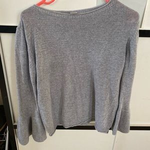 Gray Bell Sleeve Sweater